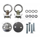 Tie Down Track Loading Kit, 2 Round Loading Base + 2 Loading Rings
