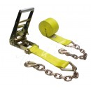 "Ratchet Tie Downs w/ Chain Extensions 3"" x 30'"