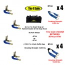 Car Tie Down Strap, W/ Ratchet Buckle & Flat Snap Hook