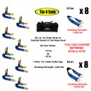 Car Tie Down Strap, W/ Ratchet Buckle & Flat Snap Hook(8 Pcs.)